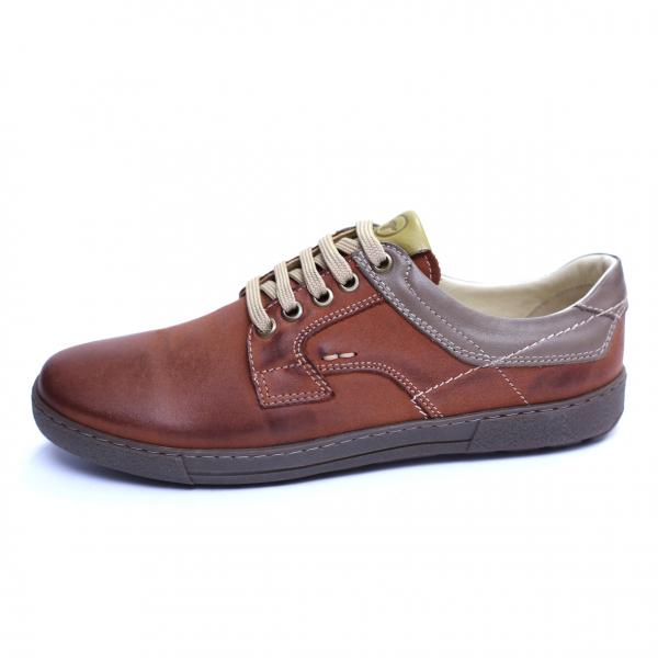 Pantofi barbati din piele naturala, Brad, Gitanos, Maro, 39 EU 3