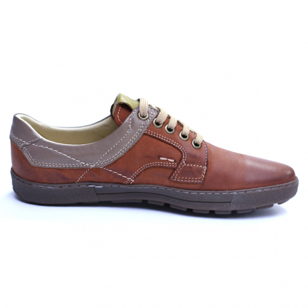 Pantofi barbati din piele naturala, Brad, Gitanos, Maro, 39 EU 4