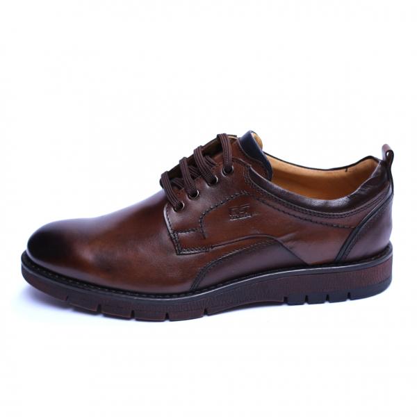 Pantofi barbati din piele naturala, Sir, Gitanos, Maro, 39 EU 2