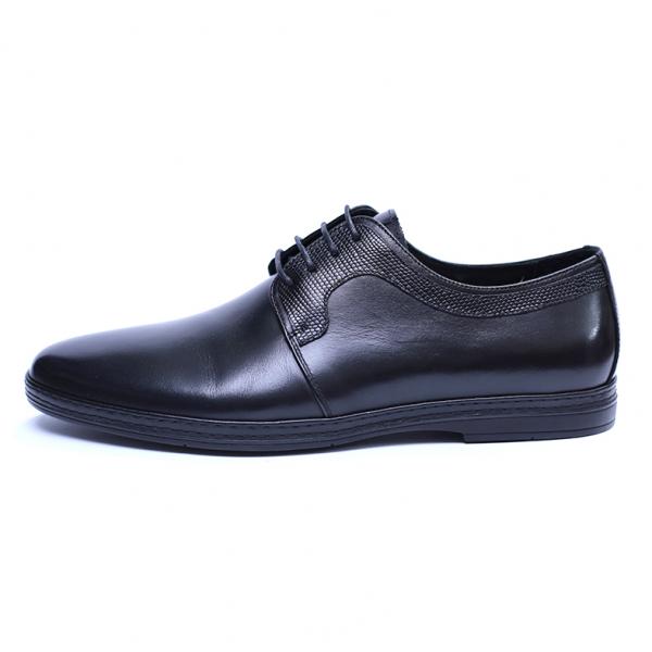 Pantofi barbati din piele naturala, Tom, SACCIO, Negru, 39 EU 2