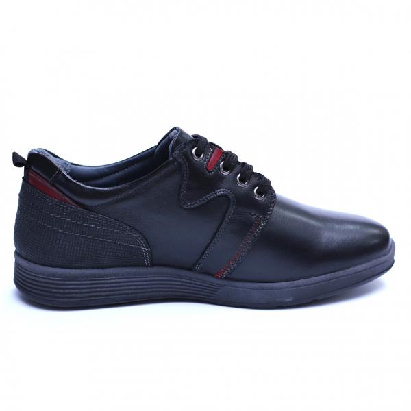 Pantofi barbati din piele naturala, Martin, Gitanos, Negru, 39 EU 3