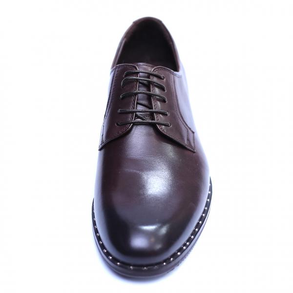 Pantofi barbati din piele naturala, Van, SACCIO, Maro, 39 EU 1