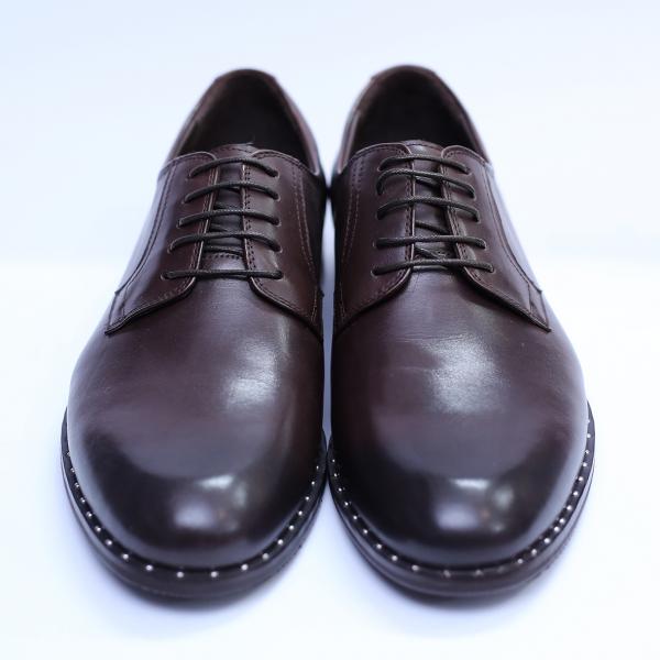 Pantofi barbati din piele naturala, Van, SACCIO, Maro, 39 EU 2