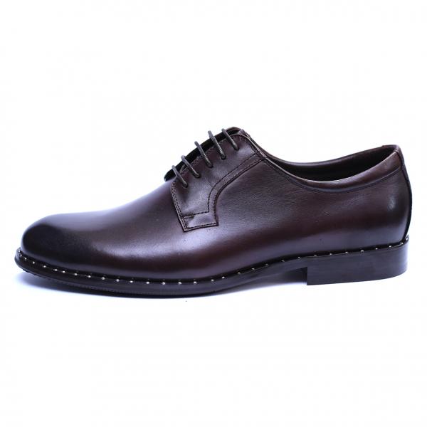Pantofi barbati din piele naturala, Van, SACCIO, Maro, 39 EU 3