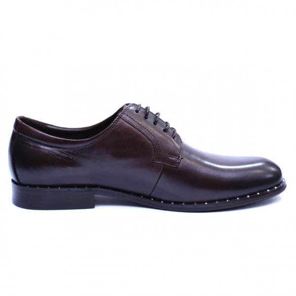 Pantofi barbati din piele naturala, Van, SACCIO, Maro, 39 EU 4
