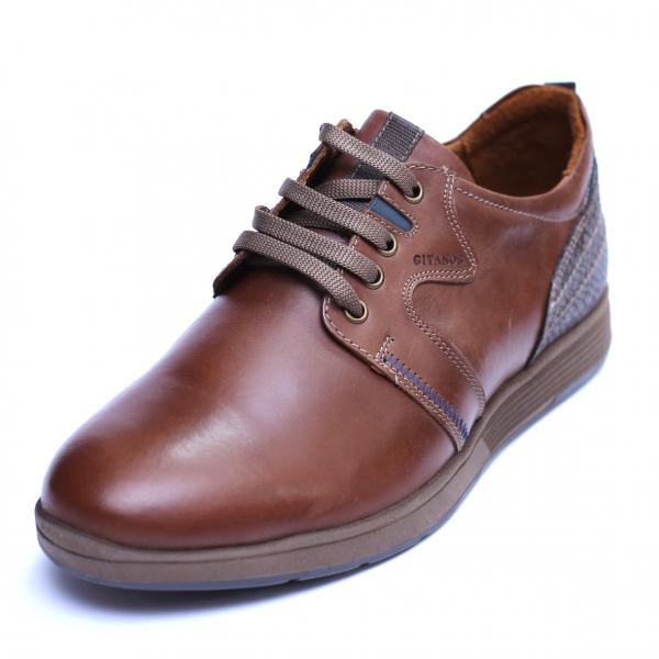 Pantofi barbati din piele naturala, Martin, Gitanos, Maro, 39 EU [2]