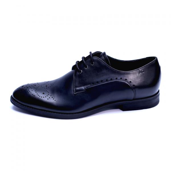 Pantofi eleganti pentru barbati din piele naturala, Soni, ANNA CORI, Negru, 39 EU 0