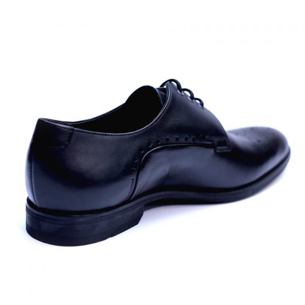 Pantofi eleganti pentru barbati din piele naturala, Soni, ANNA CORI, Negru, 39 EU 2