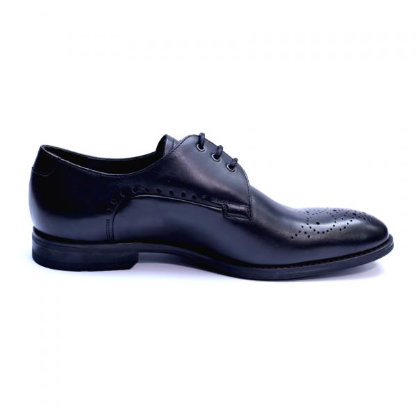 Pantofi eleganti pentru barbati din piele naturala, Soni, ANNA CORI, Negru, 39 EU 3