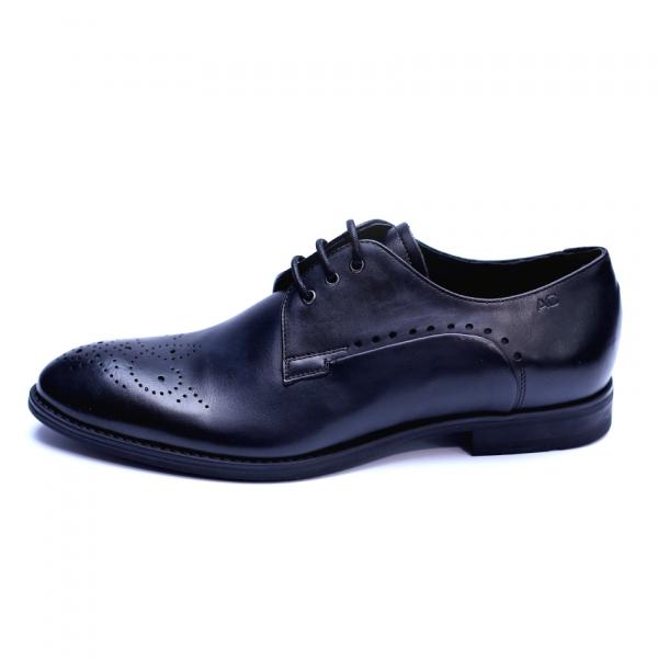 Pantofi eleganti pentru barbati din piele naturala, Soni, ANNA CORI, Negru, 39 EU 4
