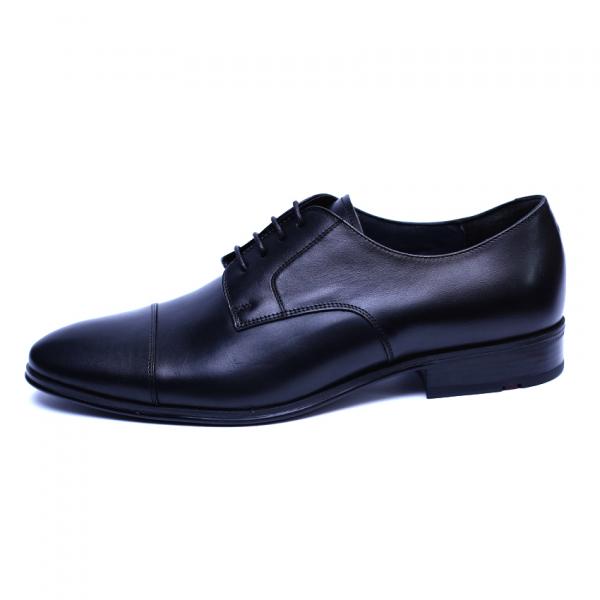 Pantofi barbati din piele naturala, Johnny, ANNA CORI, Negru, 43 EU 0