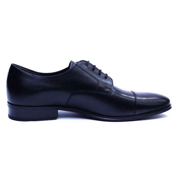 Pantofi barbati din piele naturala, Johnny, ANNA CORI, Negru, 43 EU 2