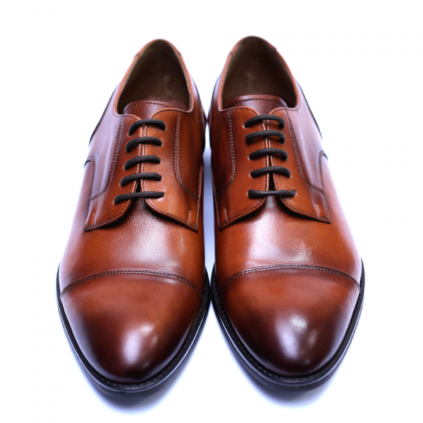 Pantofi barbati din piele naturala, Marlon, ANNA CORI, Maro, 40 EU 2
