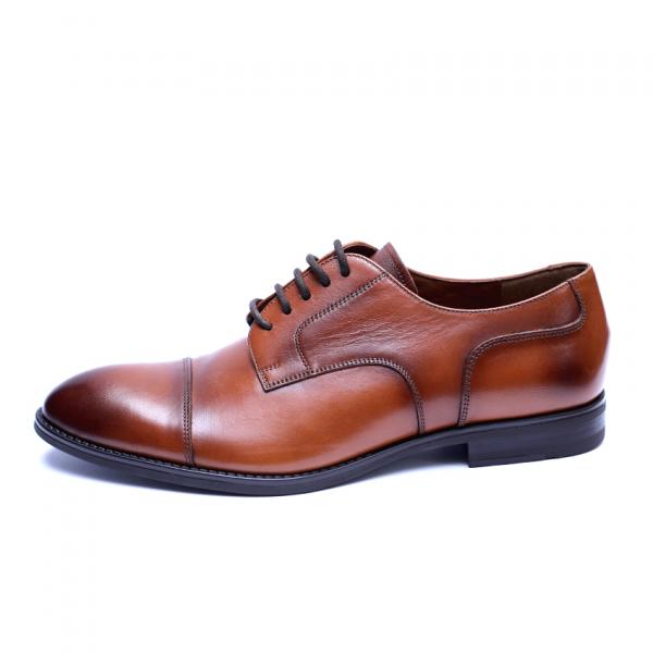 Pantofi barbati din piele naturala, Marlon, ANNA CORI, Maro, 40 EU 3
