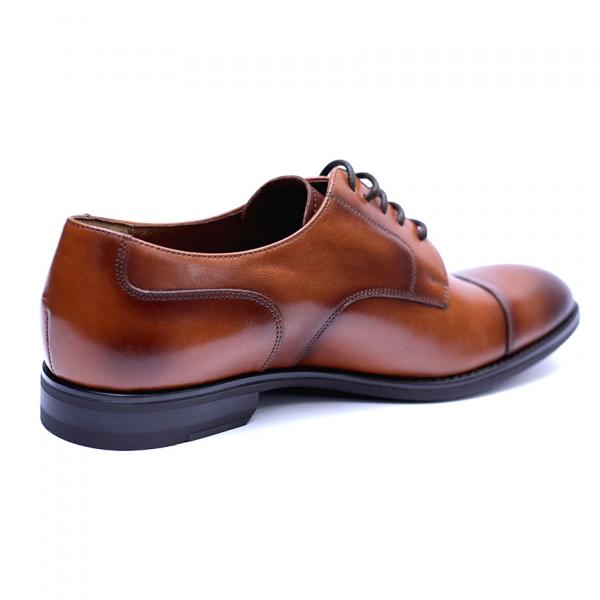 Pantofi barbati din piele naturala, Marlon, ANNA CORI, Maro, 40 EU 4