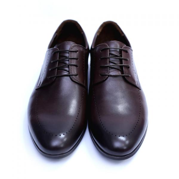 Pantofi barbati din piele naturala, Lee, SACCIO, Maro, 42 EU 2