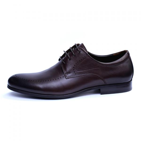 Pantofi barbati din piele naturala, Lee, SACCIO, Maro, 42 EU 3