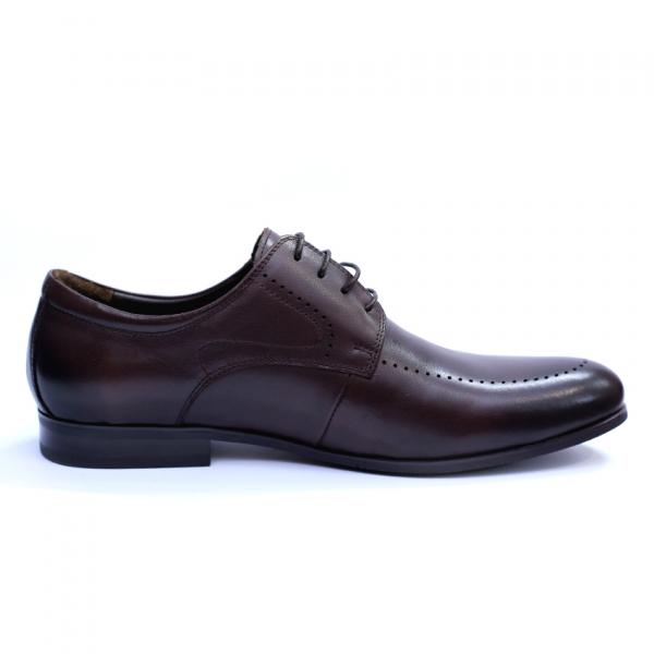Pantofi barbati din piele naturala, Lee, SACCIO, Maro, 42 EU 4