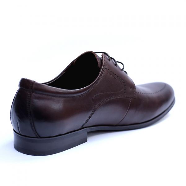 Pantofi barbati din piele naturala, Lee, SACCIO, Maro, 42 EU 5