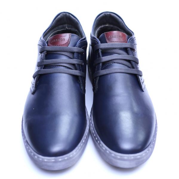 Pantofi barbati din piele naturala, Jim, Gitanos, Bleumarin, 39 EU 2