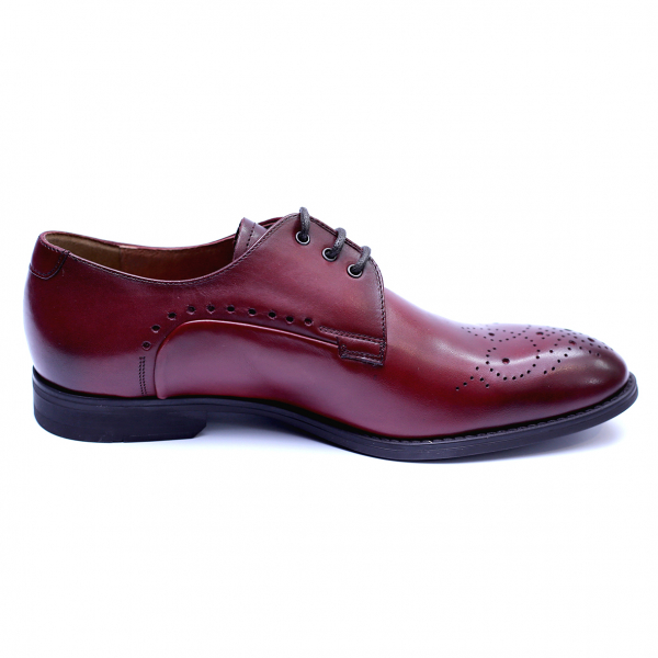 Pantofi eleganti pentru barbati din piele naturala, Soni, ANNA CORI, Bordeaux, 40 EU [4]