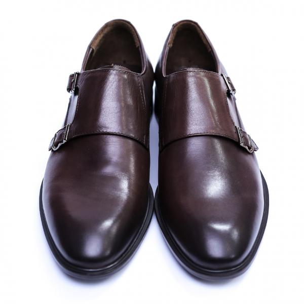 Pantofi barbati din piele naturala, Vito, SACCIO, Maro, 39 EU 2