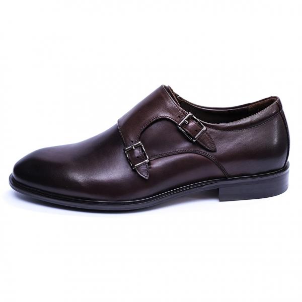 Pantofi barbati din piele naturala, Vito, SACCIO, Maro, 39 EU 3