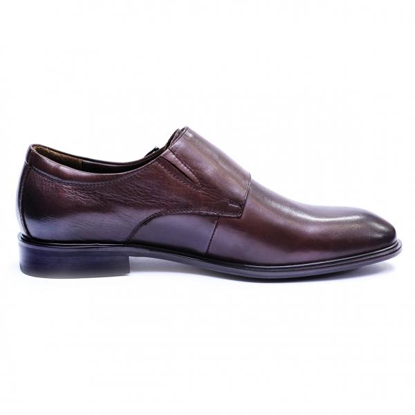 Pantofi barbati din piele naturala, Vito, SACCIO, Maro, 39 EU 5