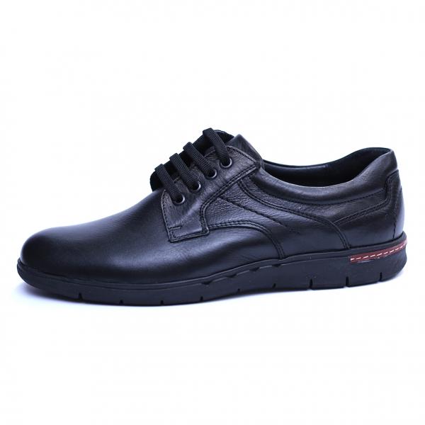 Pantofi barbati din piele naturala, Paul, Negru, 39 EU 2