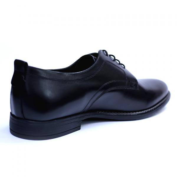 Pantofi barbati din piele naturala, Detective, RIVA MANCINA, Negru, 39 EU 3