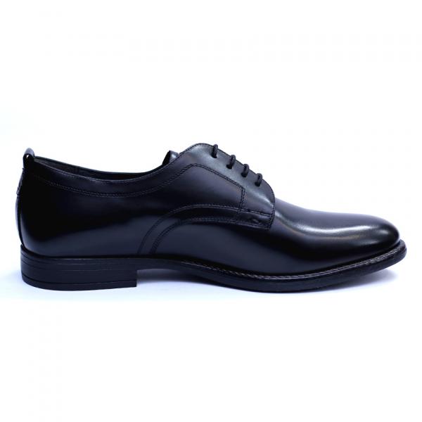 Pantofi barbati din piele naturala, Detective, RIVA MANCINA, Negru, 39 EU 4