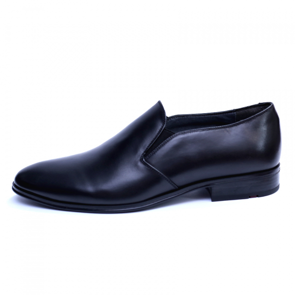 Pantofi barbati din piele naturala cu banda elastica, Elan, RIVA MANCINA, Negru, 40 EU 1