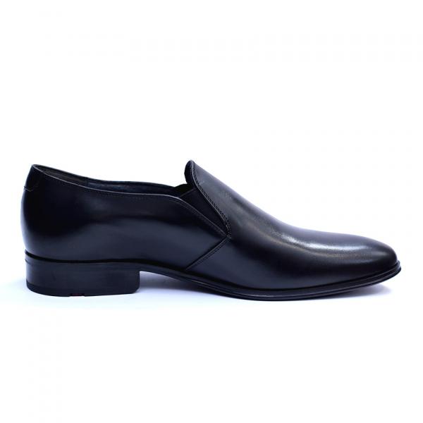Pantofi barbati din piele naturala cu banda elastica, Elan, RIVA MANCINA, Negru, 40 EU 3