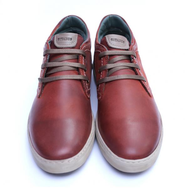 Pantofi barbati din piele naturala, Jim, Gitanos, Visiniu, 39 EU 2