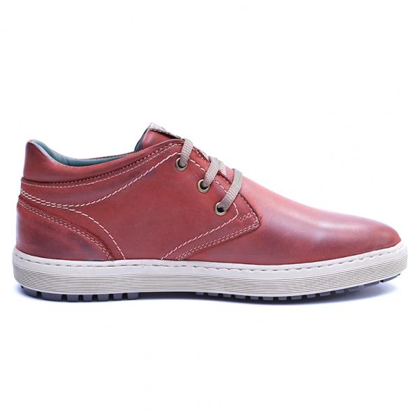 Pantofi barbati din piele naturala, Jim, Gitanos, Visiniu, 39 EU 4
