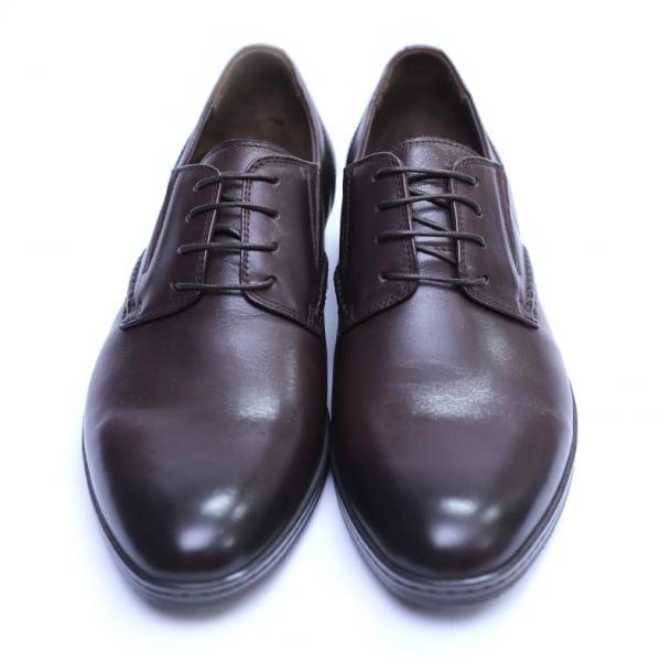 Pantofi barbati din piele naturala, Knight, SACCIO, Maro, 39 EU 2