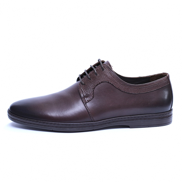 Pantofi barbati din piele naturala, Tom, SACCIO, Maro, 39 EU 3