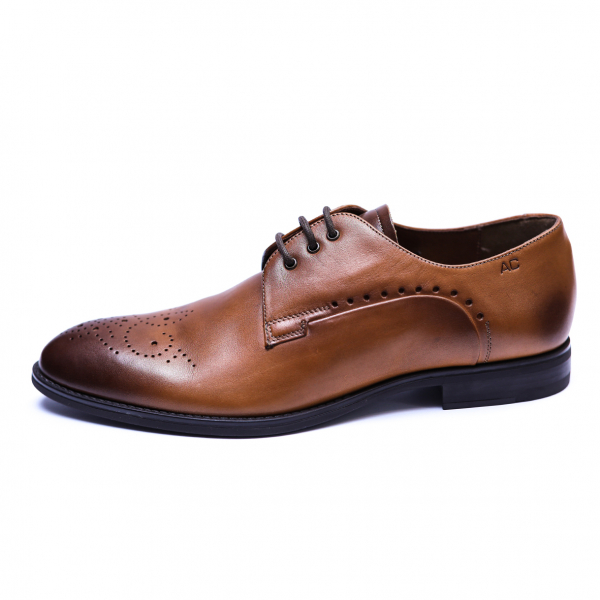 Pantofi eleganti pentru barbati din piele naturala, Soni, ANNA CORI, Maro, 39 EU [1]