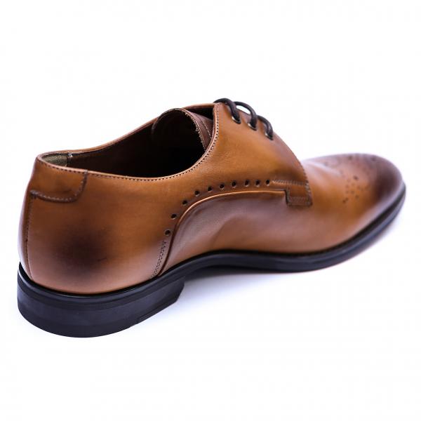 Pantofi eleganti pentru barbati din piele naturala, Soni, ANNA CORI, Maro, 39 EU [2]