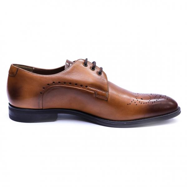 Pantofi eleganti pentru barbati din piele naturala, Soni, ANNA CORI, Maro, 39 EU [3]