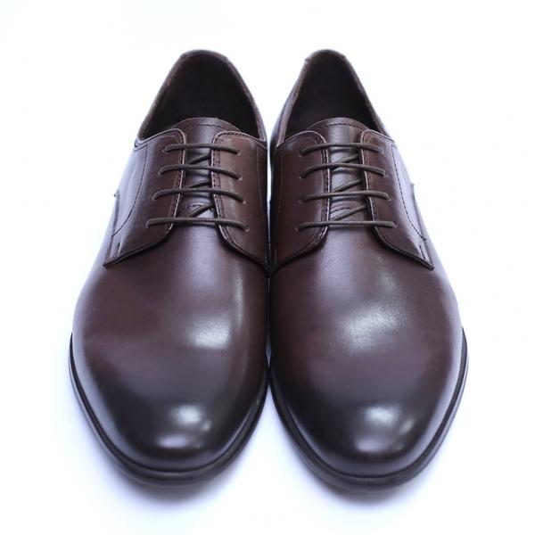 Pantofi barbati din piele naturala, Leo, SACCIO, Maro, 39 EU [2]