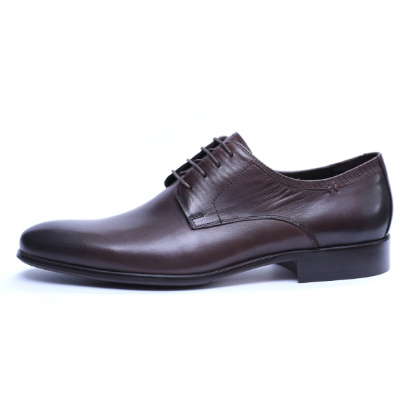 Pantofi barbati din piele naturala, Leo, SACCIO, Maro, 39 EU 3