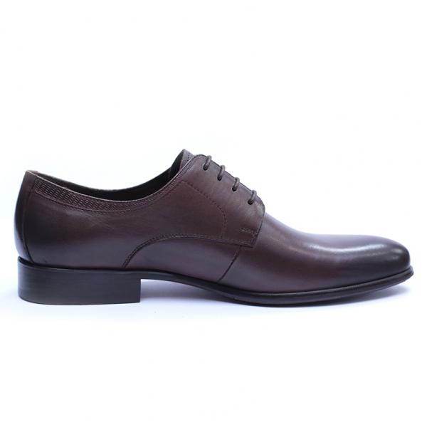 Pantofi barbati din piele naturala, Leo, SACCIO, Maro, 39 EU [4]