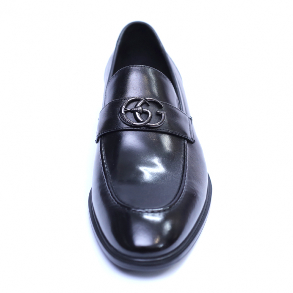 Pantofi barbati din piele naturala, Dolce vita, SACCIO, Negru, 39 EU [1]