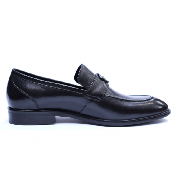 Pantofi barbati din piele naturala, Dolce vita, SACCIO, Negru, 39 EU [3]