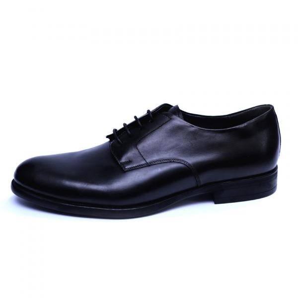Pantofi barbati din piele naturala, Nico, RIVA MANCINA, Negru, 45 EU 2