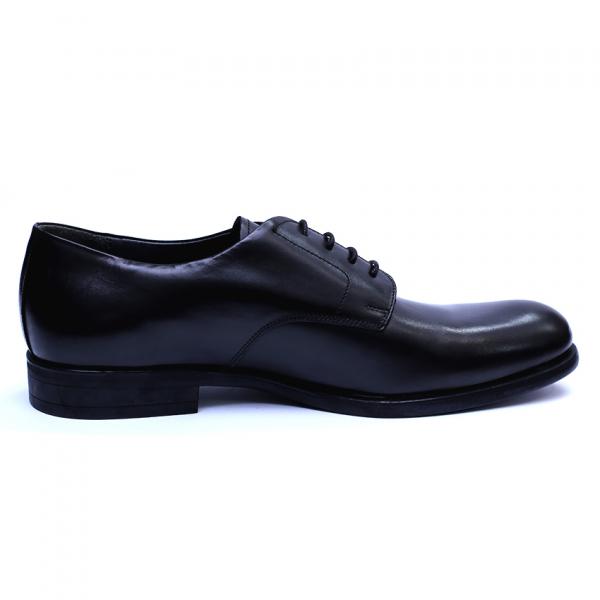 Pantofi barbati din piele naturala, Nico, RIVA MANCINA, Negru, 45 EU 4