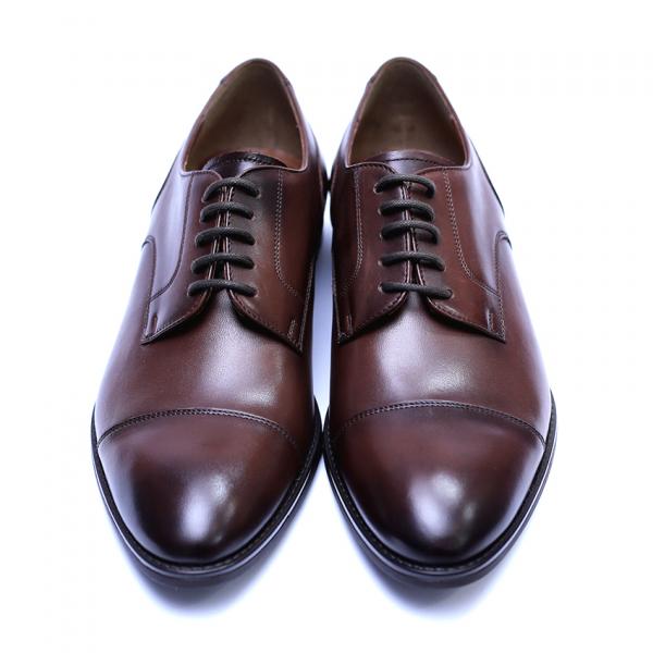 Pantofi barbati din piele naturala, Marlon, ANNA CORI, Maro inchis, 39 EU [2]