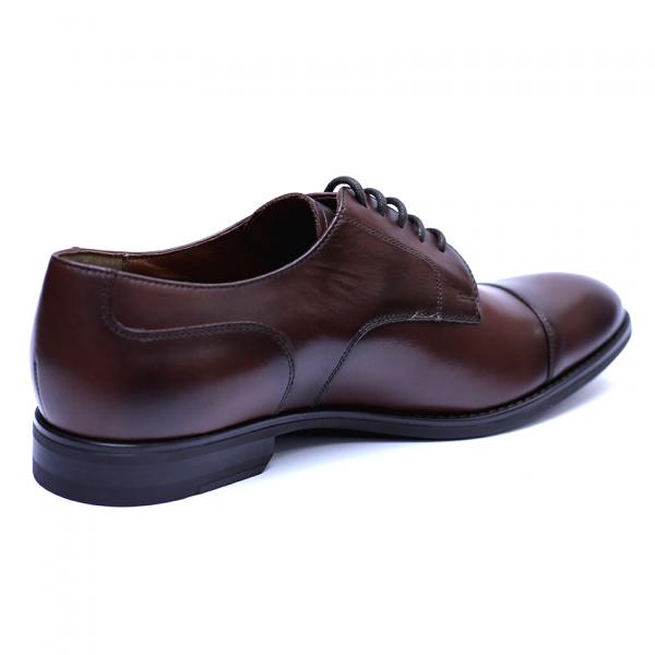 Pantofi barbati din piele naturala, Marlon, ANNA CORI, Maro inchis, 39 EU [4]