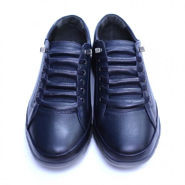 Pantofi barbati din piele naturala, Snk, Goretti, Albastru, 40 EU [2]